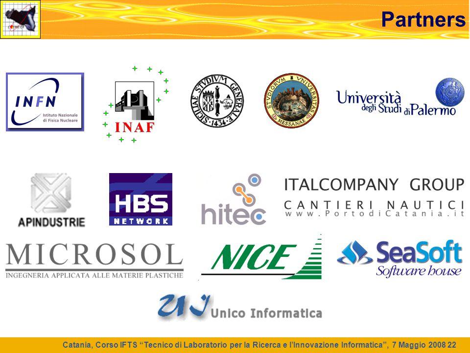 Partners Catania, Corso IFTS Tecnico di Laboratorio per la Ricerca e l'Innovazione Informatica , 7 Maggio 2008 22.