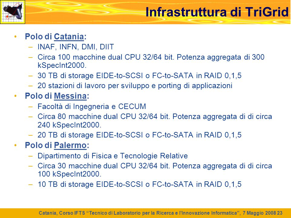 Infrastruttura di TriGrid