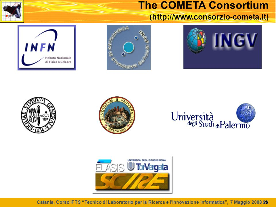 The COMETA Consortium (http://www.consorzio-cometa.it)