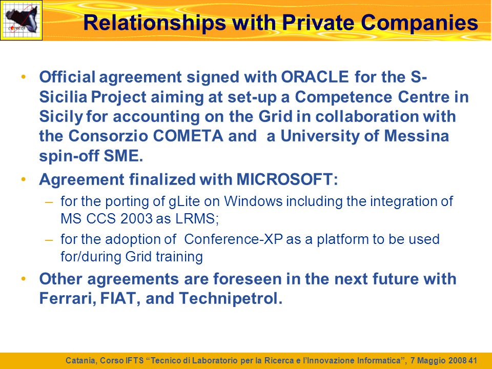 Relationships with Private Companies