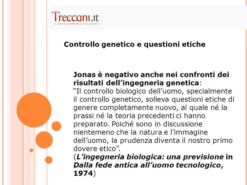 Controllo genetico e questioni etiche