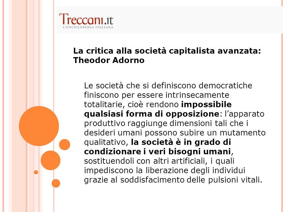 La critica alla società capitalista avanzata: Theodor Adorno