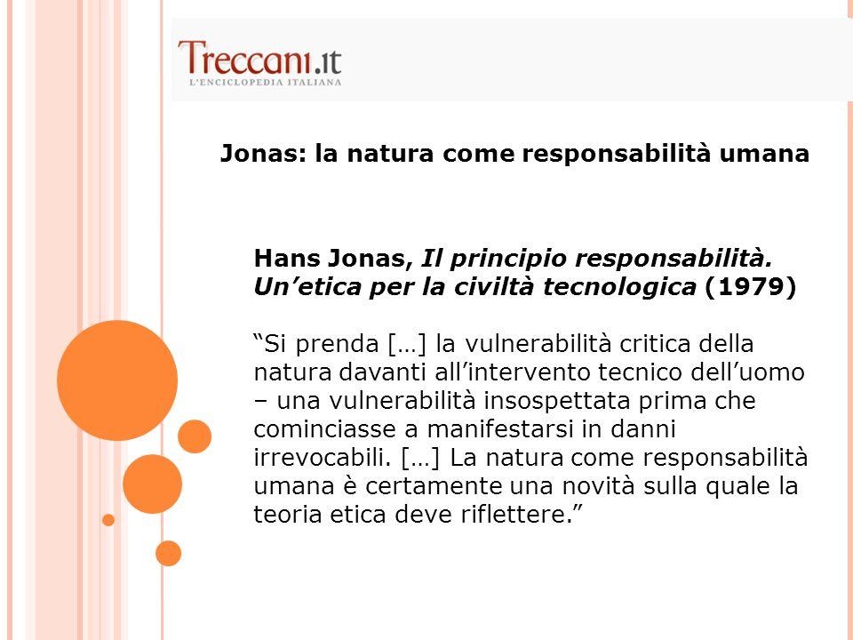 Jonas: la natura come responsabilità umana