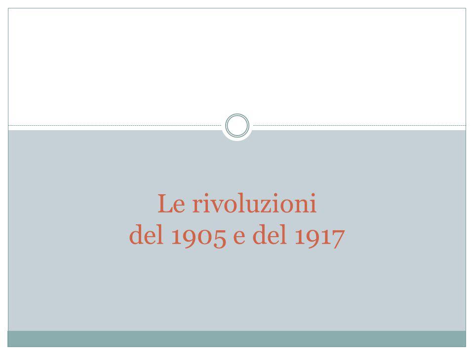 Le rivoluzioni del 1905 e del 1917