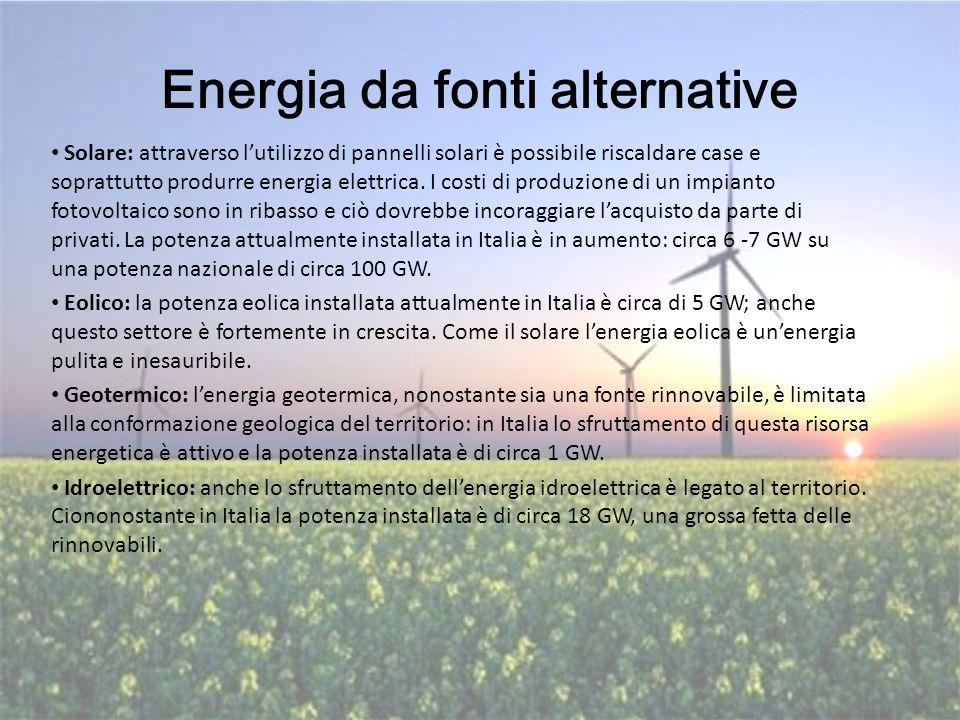 Energia da fonti alternative