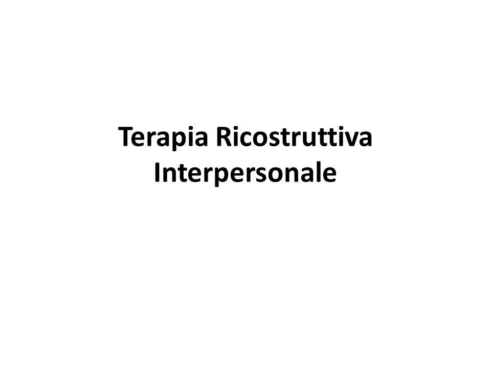 Terapia Ricostruttiva Interpersonale