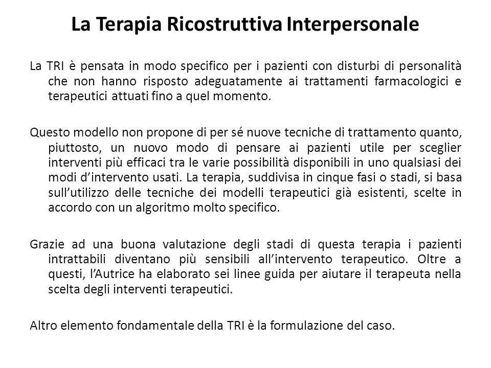 La Terapia Ricostruttiva Interpersonale