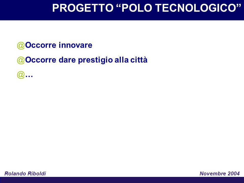 PROGETTO POLO TECNOLOGICO