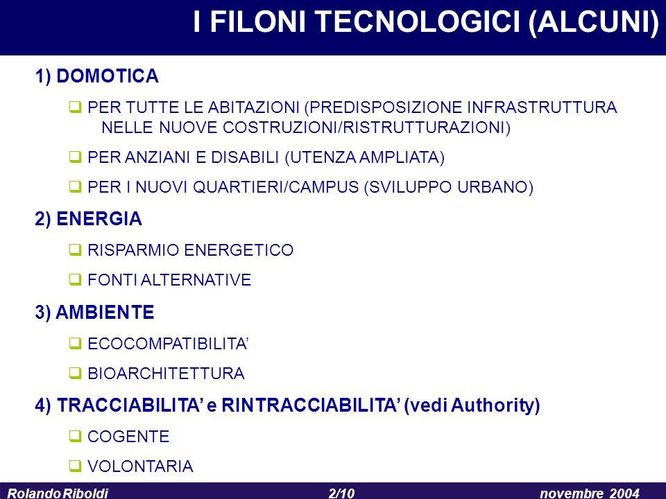 I FILONI TECNOLOGICI (ALCUNI)