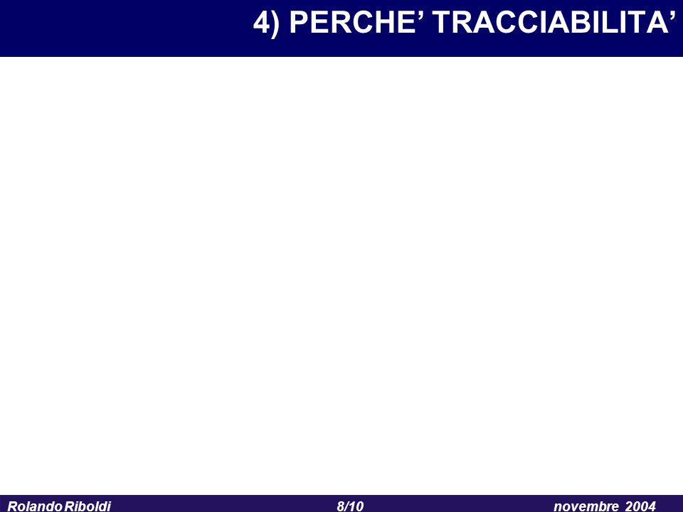 4) PERCHE' TRACCIABILITA'