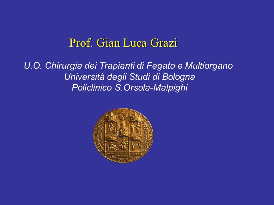 Prof. Gian Luca Grazi U.O. Chirurgia dei Trapianti di Fegato e Multiorgano. Università degli Studi di Bologna.
