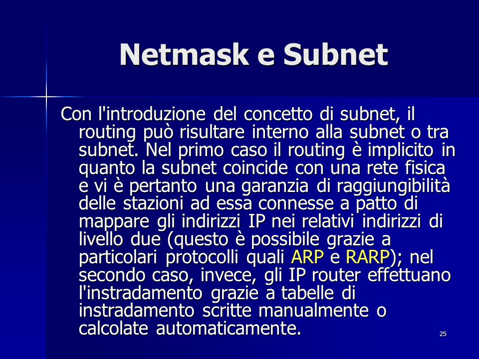 Netmask e Subnet