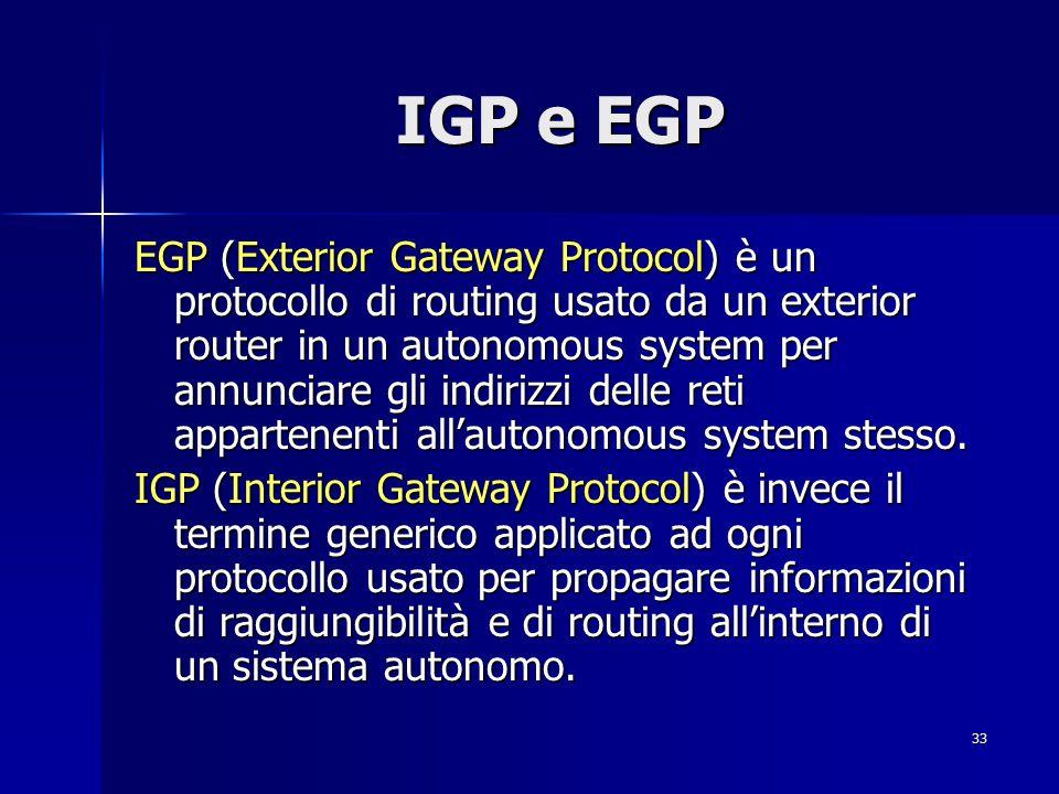 IGP e EGP