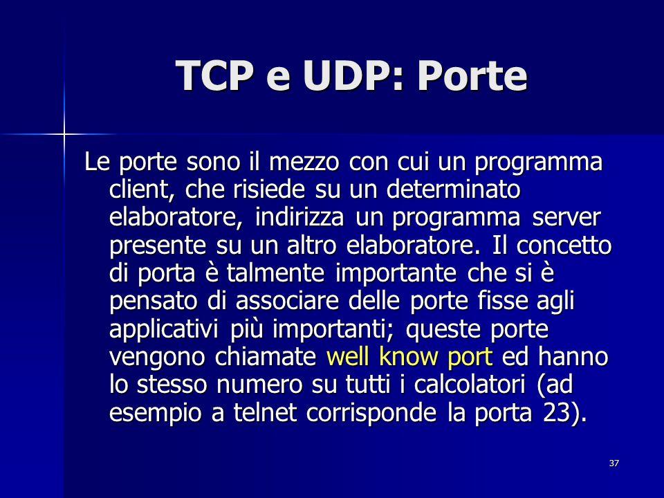 TCP e UDP: Porte