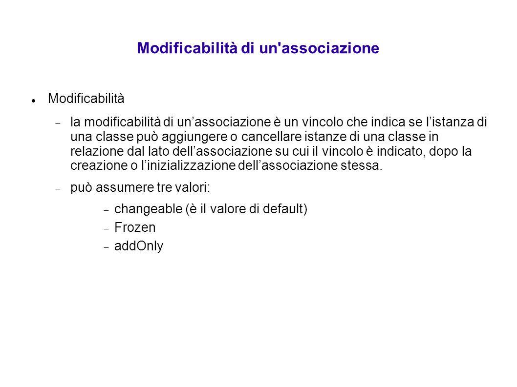 Modificabilità di un associazione