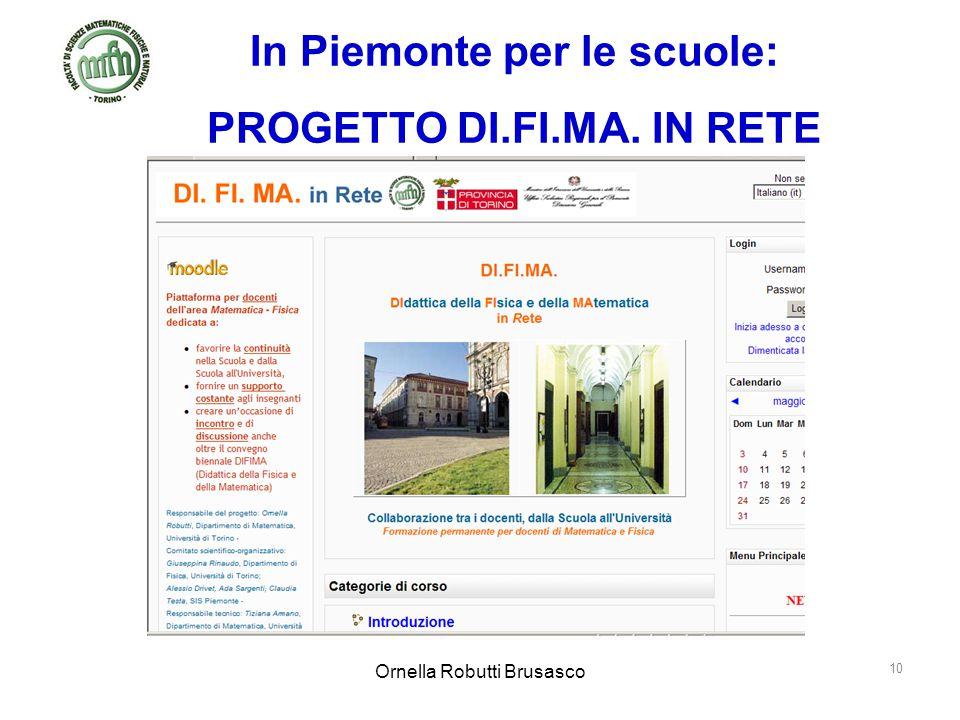 In Piemonte per le scuole: PROGETTO DI.FI.MA. IN RETE