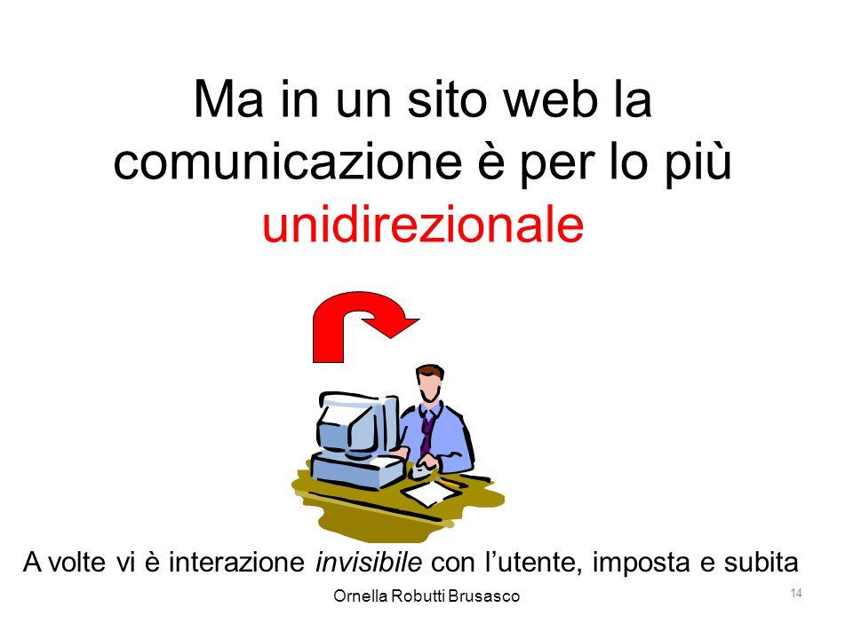 Ma in un sito web la comunicazione è per lo più unidirezionale