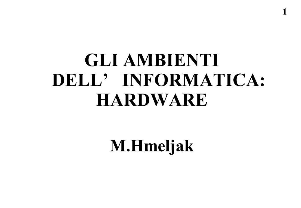 GLI AMBIENTI DELL' INFORMATICA: HARDWARE M.Hmeljak