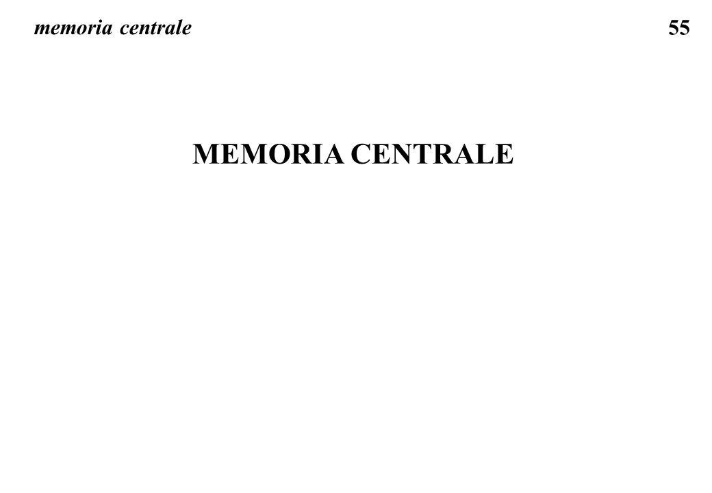 memoria centrale MEMORIA CENTRALE
