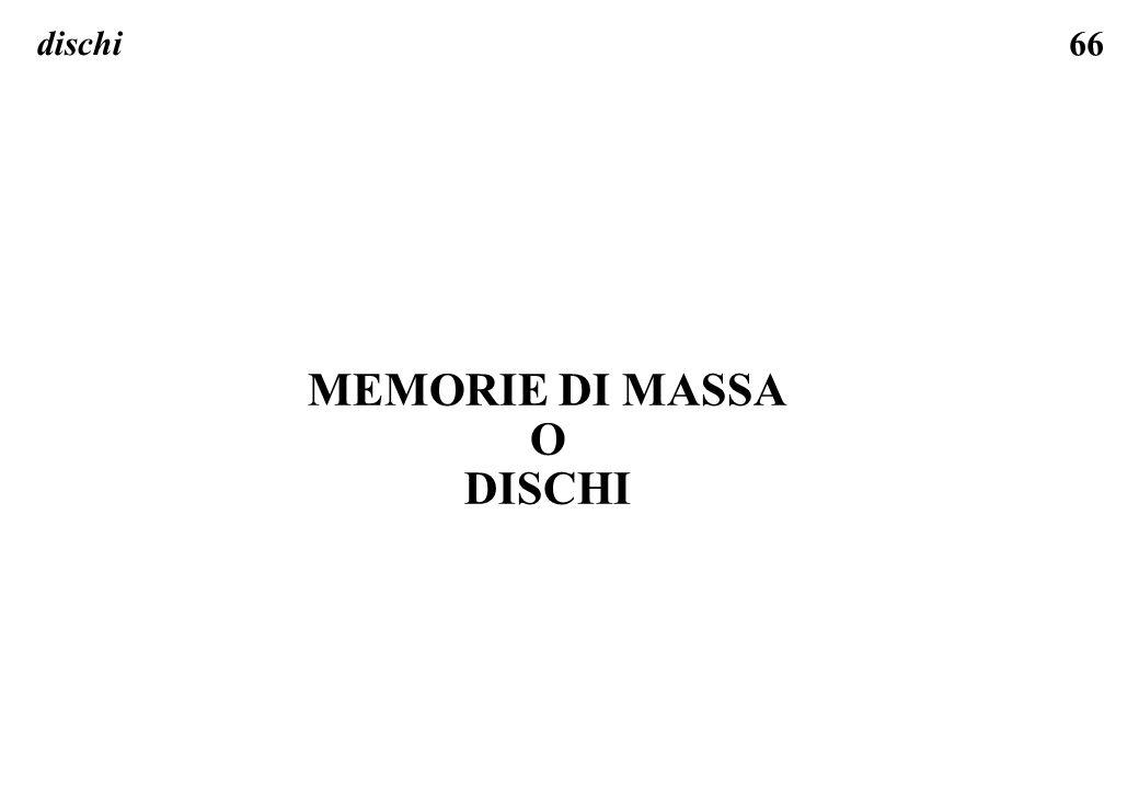 MEMORIE DI MASSA O DISCHI