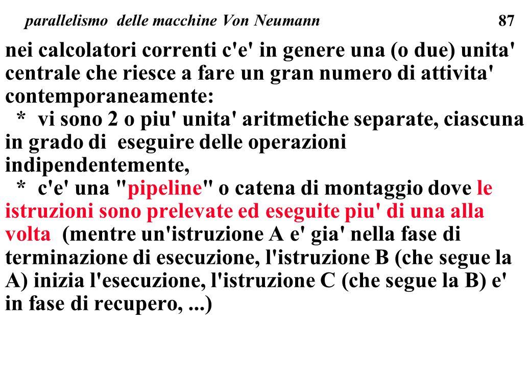 parallelismo delle macchine Von Neumann