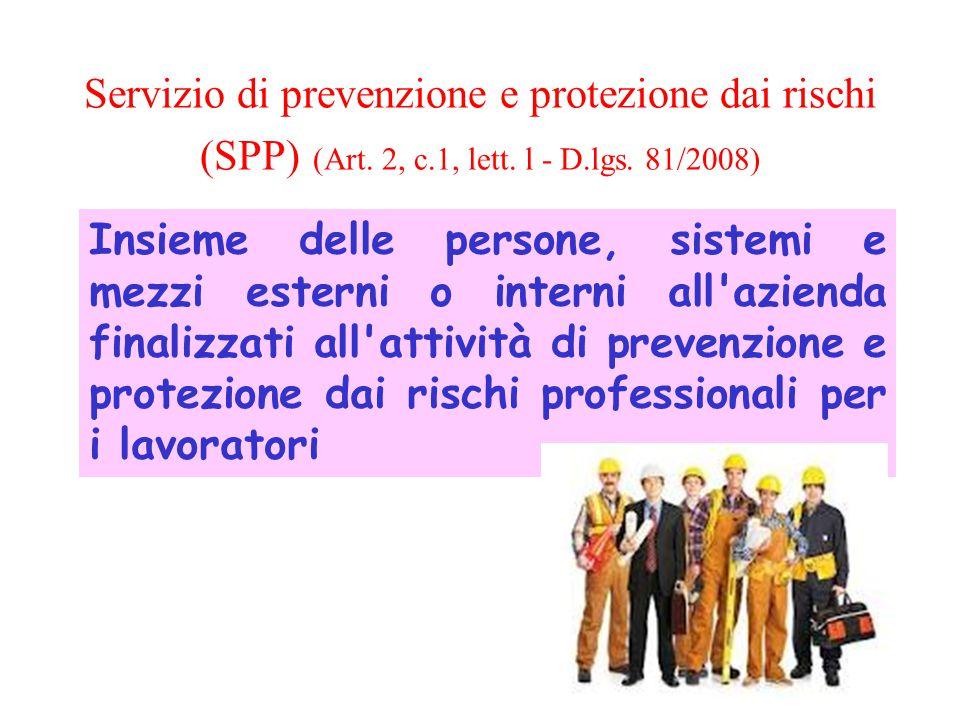 Servizio di prevenzione e protezione dai rischi (SPP) (Art. 2, c