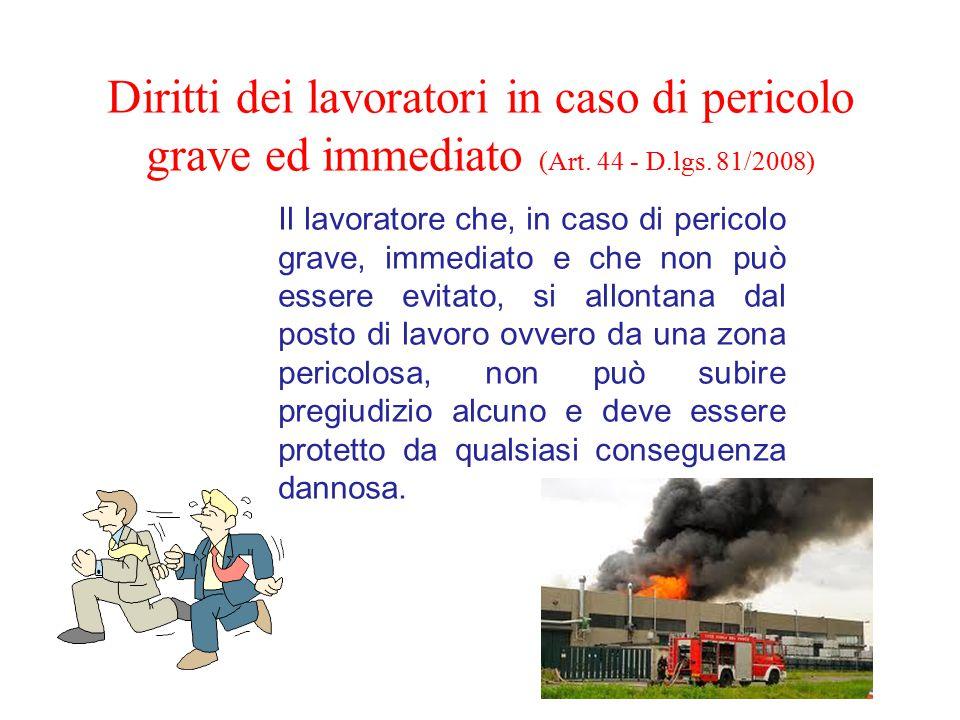 Diritti dei lavoratori in caso di pericolo grave ed immediato (Art