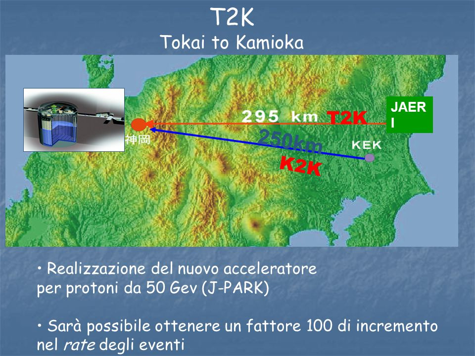 T2K 250km Tokai to Kamioka T2K K2K