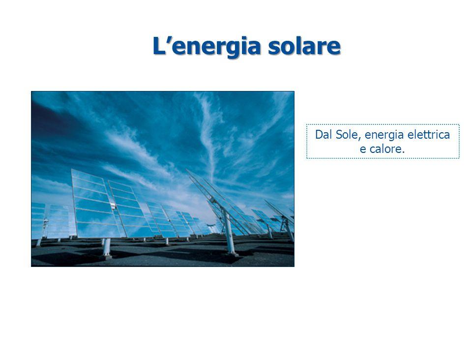 Dal Sole, energia elettrica e calore.
