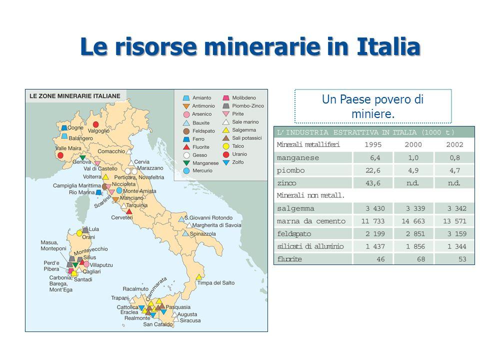 Le risorse minerarie in Italia