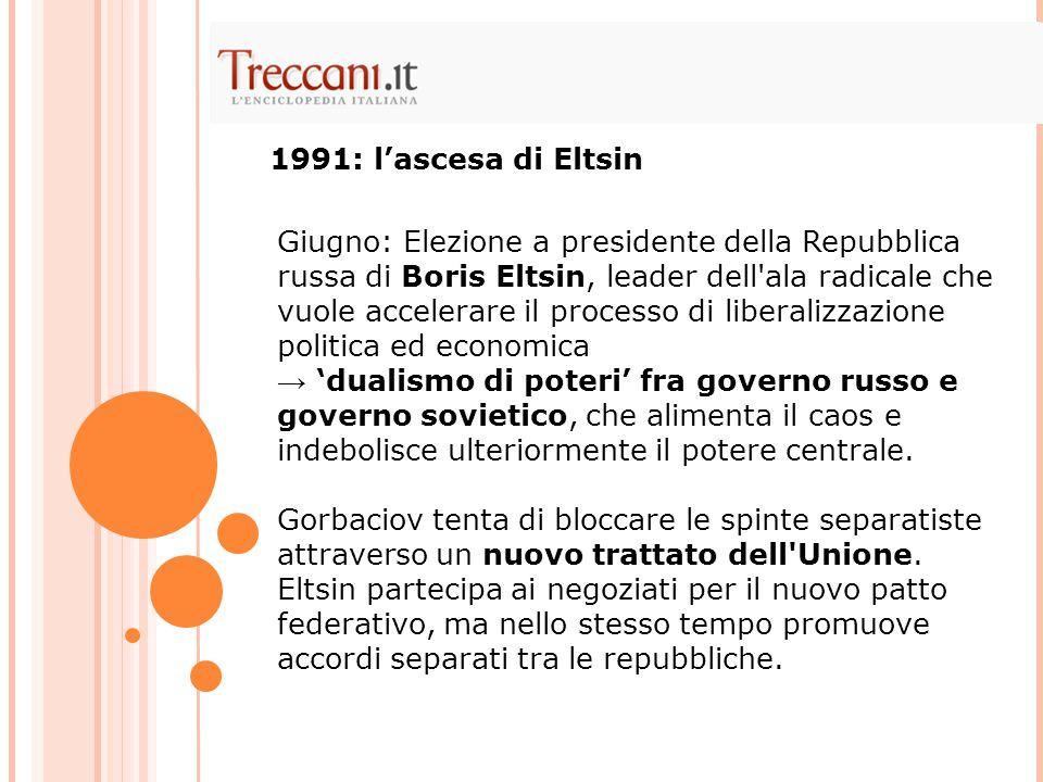 1991: l'ascesa di Eltsin