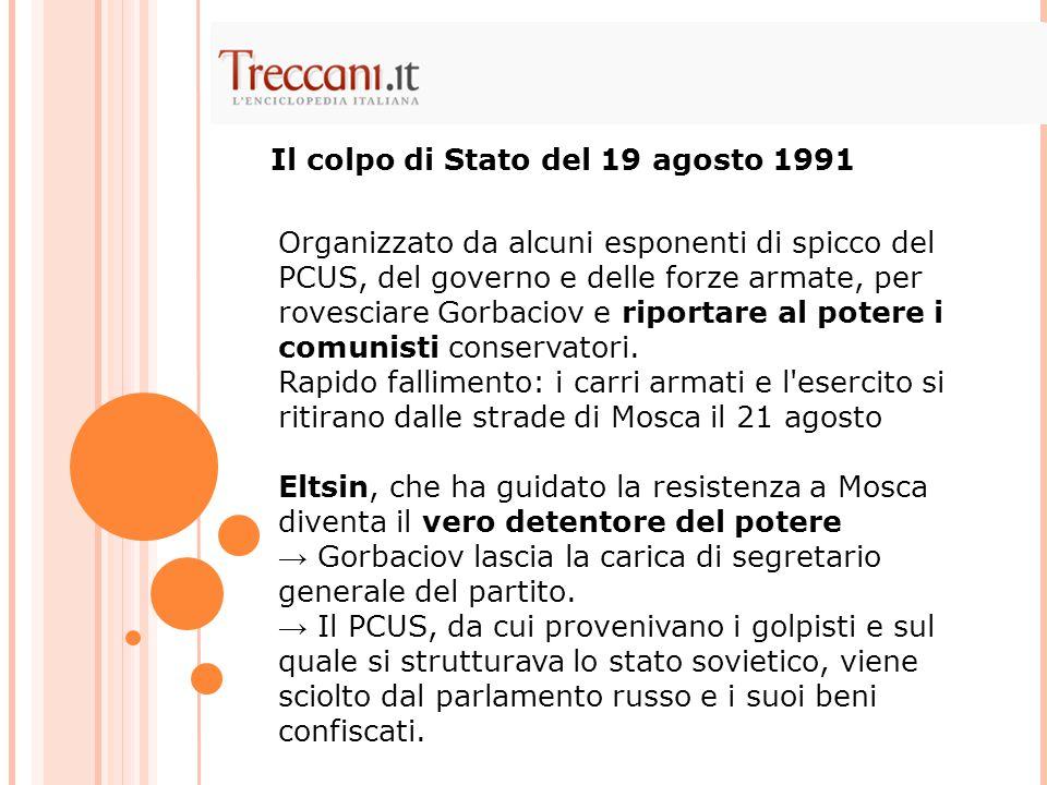 Il colpo di Stato del 19 agosto 1991
