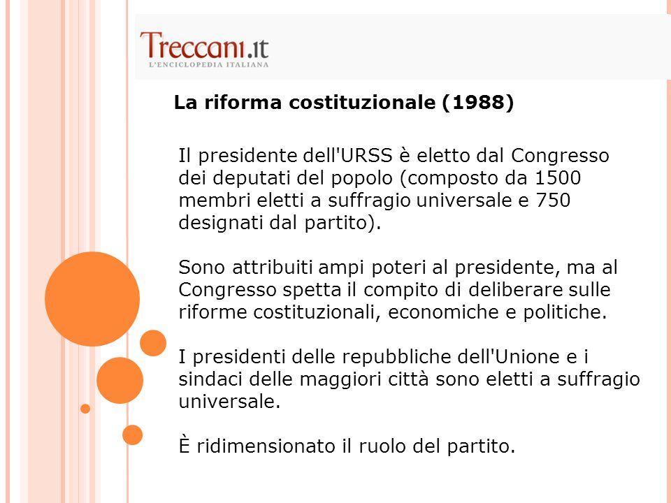 La riforma costituzionale (1988)
