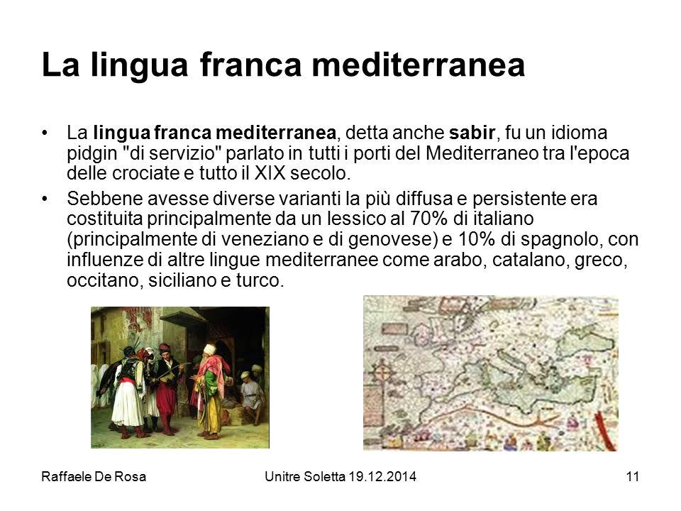 La lingua franca mediterranea