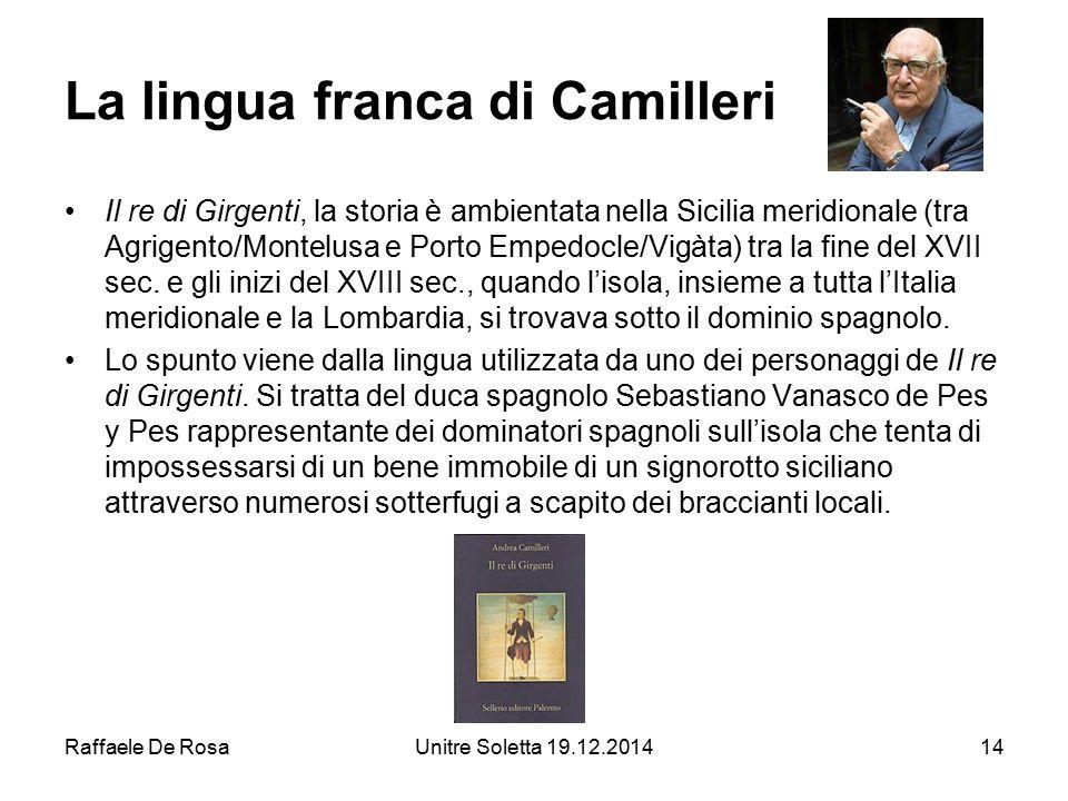 La lingua franca di Camilleri