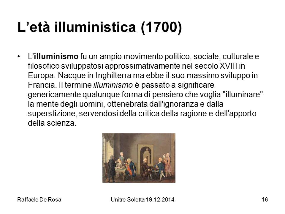 L'età illuministica (1700)