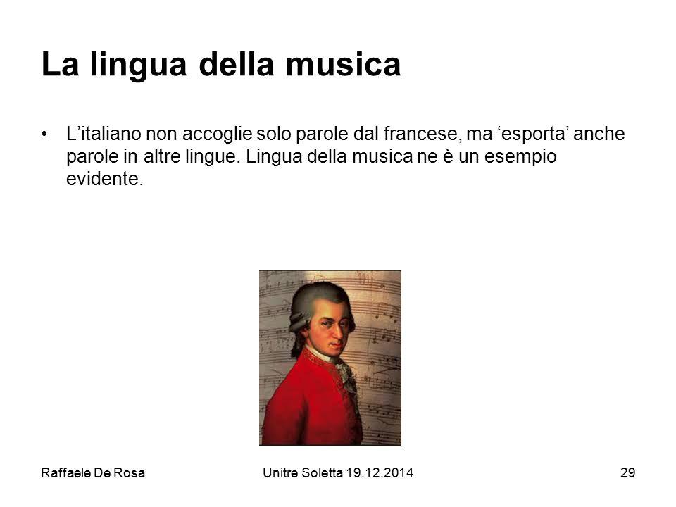 La lingua della musica