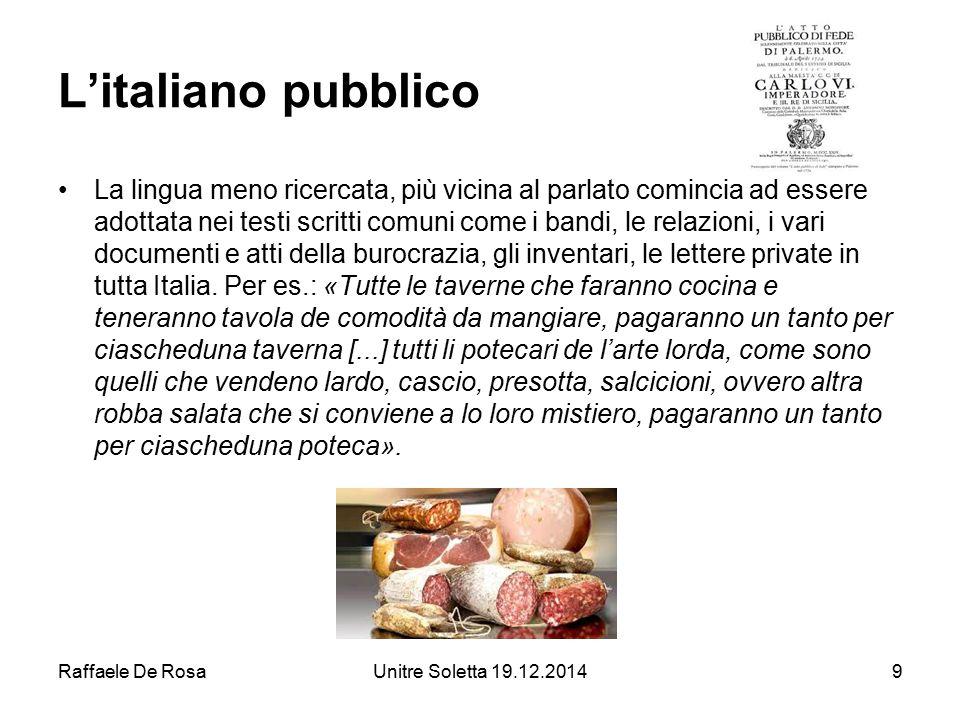 L'italiano pubblico