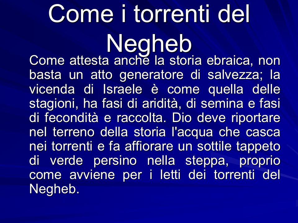 Come i torrenti del Negheb