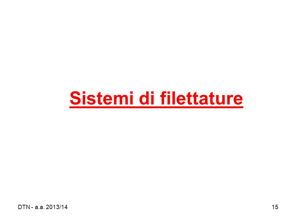 Sistemi di filettature