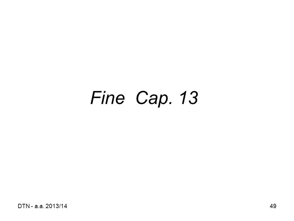 Fine Cap. 13 DTN - a.a. 2013/14