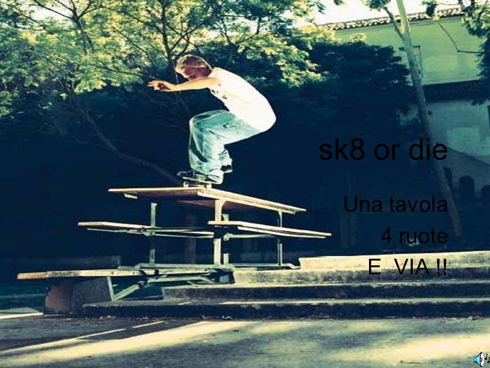 sk8 or die Una tavola 4 ruote E VIA !!