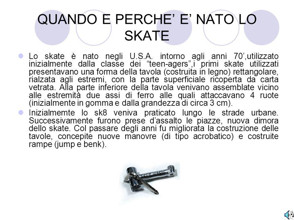 QUANDO E PERCHE' E' NATO LO SKATE