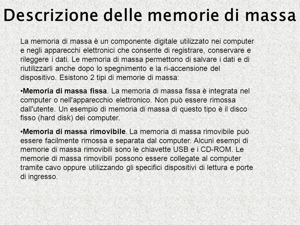 Descrizione delle memorie di massa