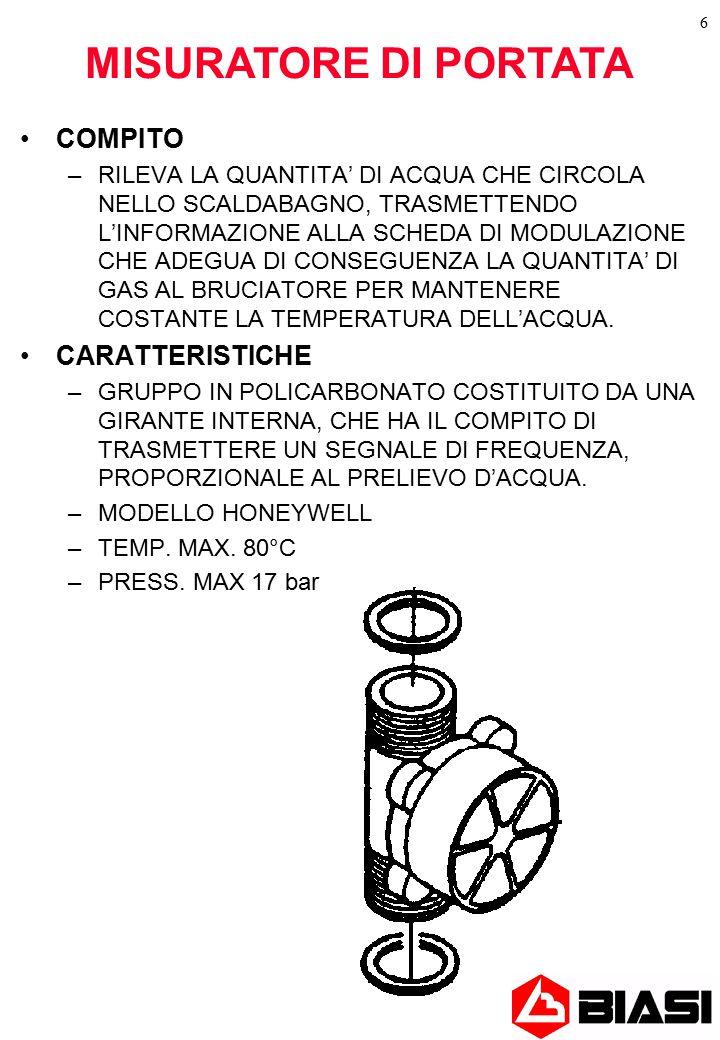 MISURATORE DI PORTATA COMPITO CARATTERISTICHE
