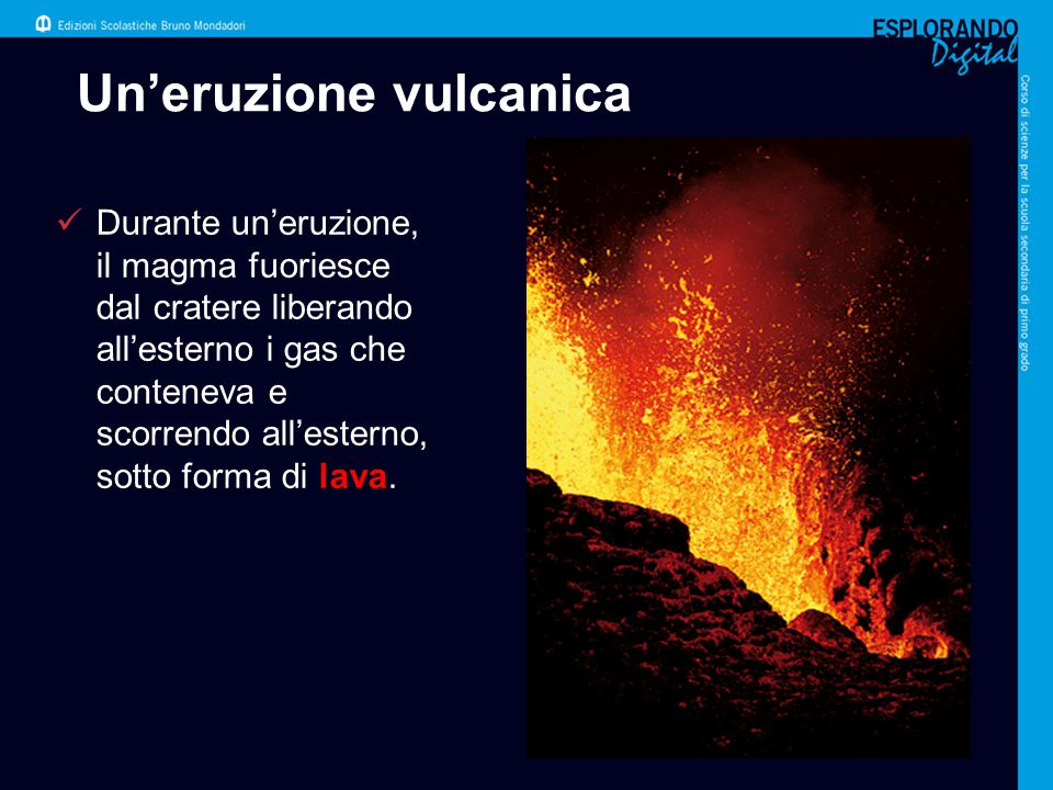 Un'eruzione vulcanica