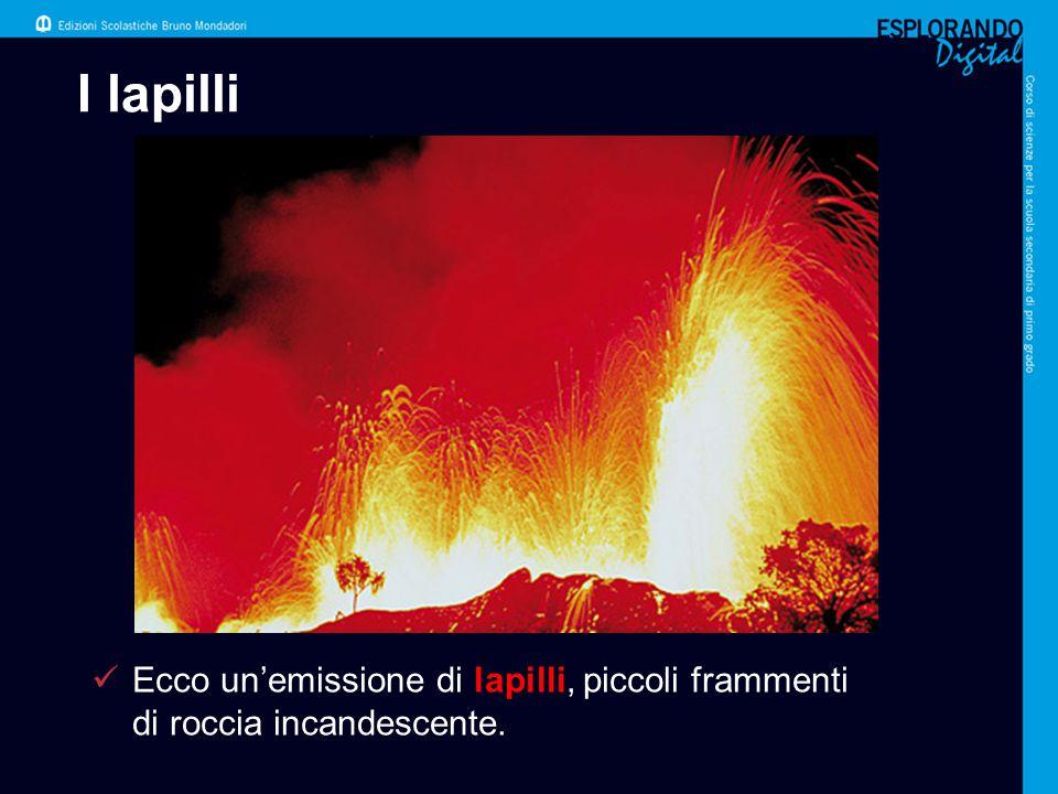 I lapilli Per l'insegnante: L'immagine mostra un'eruzione esplosiva del vulcano Stromboli.