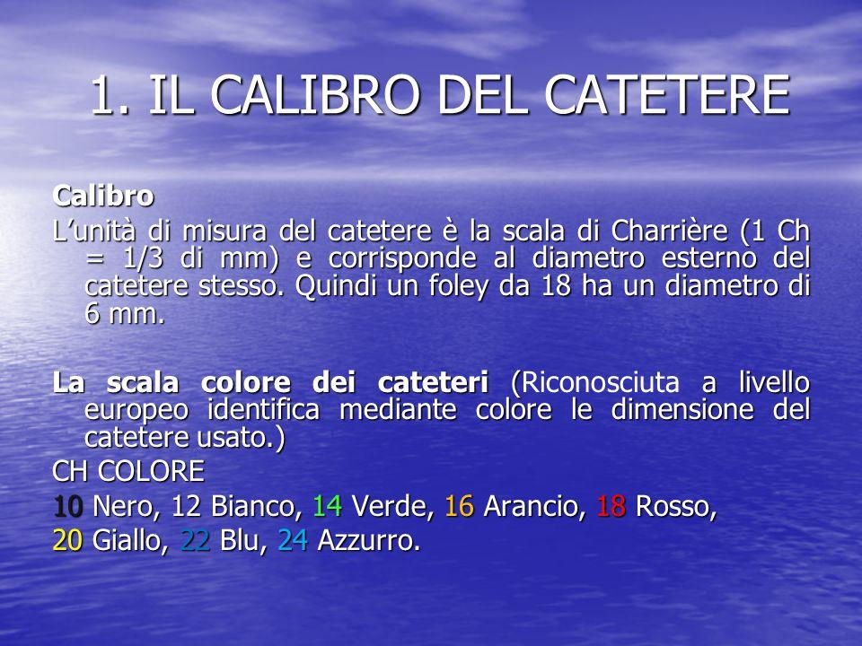 1. IL CALIBRO DEL CATETERE