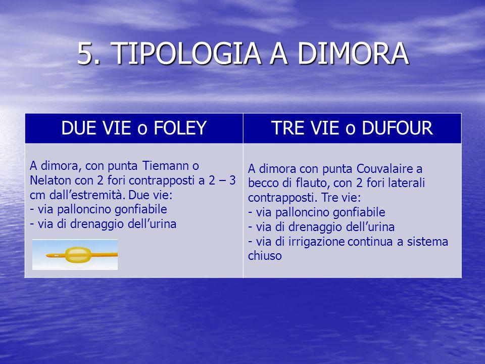 5. TIPOLOGIA A DIMORA DUE VIE o FOLEY TRE VIE o DUFOUR