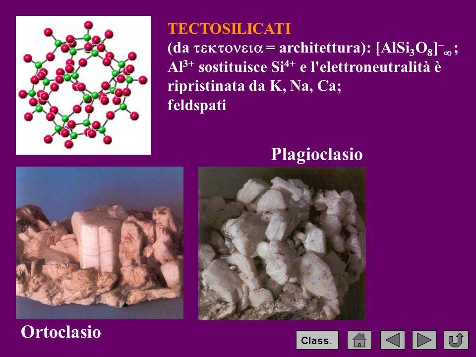 Plagioclasio Ortoclasio TECTOSILICATI